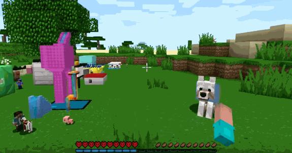мини крафт с собакой