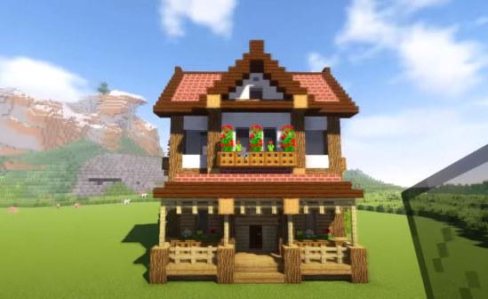 игра майнкрафт красивый дом