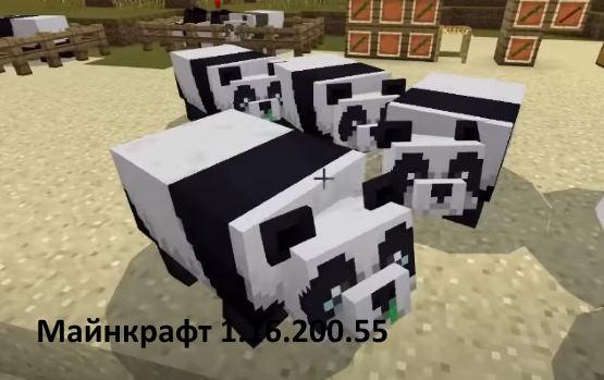 Minecraft PE 1.16.200.55 горное тобновление панды