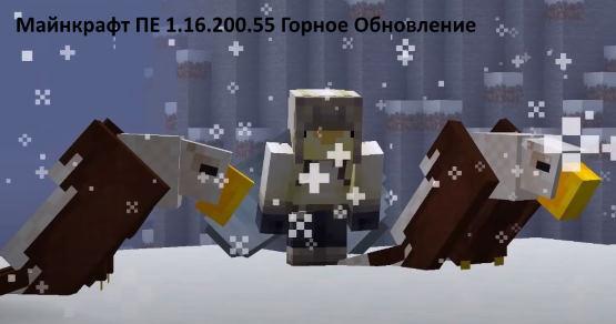 Minecraft PE 1.16.200.55 горное обновление